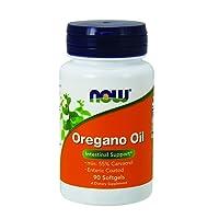 Now Foods | Oregano Oil (Oregano Öl) | 90 Weichkapseln | Mindestens 55% Carvacrol | plus Ingweröl und Fenchelöl | hochdosiert | ohne Gentechnik | Glutenfrei | Sojafrei