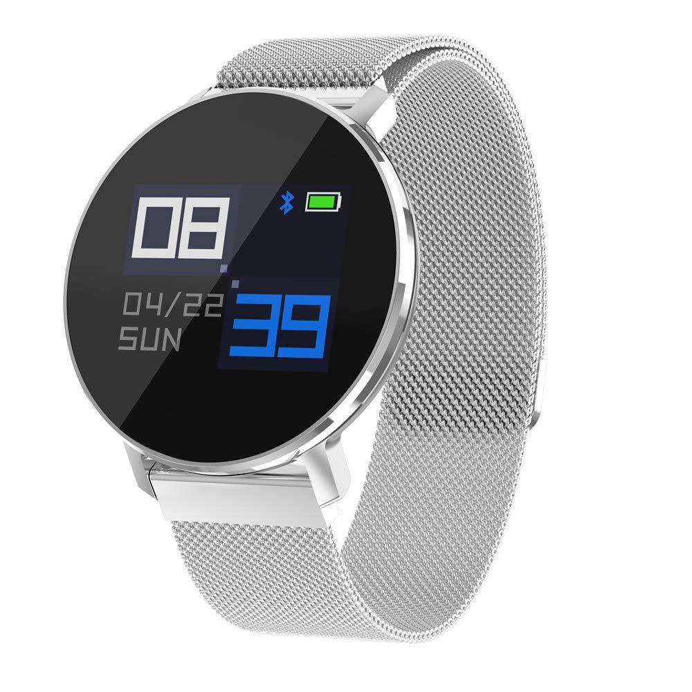 MCJL Smart Watch,Bluetooth Smart Watch Waterproof IP68 Fitness Tracker Watch with Heart Rate Monitor Pedometer Sleep Monitor Stopwatch SMS Call Notification Remote Camera Music,Silver
