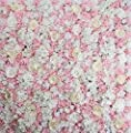 """ProPhotoConnect 48""""X 96"""" Artificial Silk Rose 3D Flower Wall Background Wedding Party Decor"""