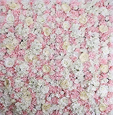 "ProPhotoConnect 48""X 96"" Artificial Silk Rose 3D Flower Wall Background Wedding Party Decor"