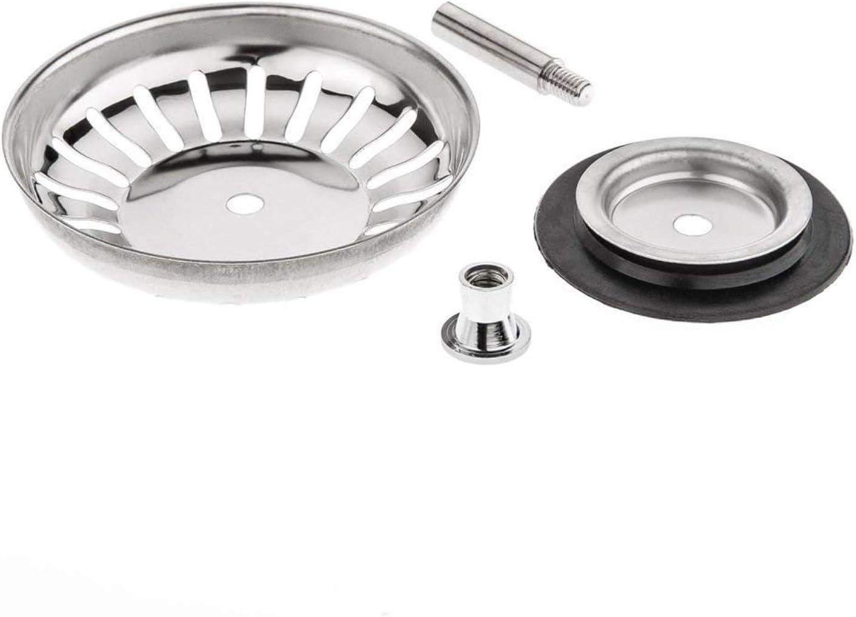 Ewadoo SUS304 Stainless Steel Basket Drain Strainers Plug Sized for UK Sinks 79.3-80.3mm Upgraded Thickened Design Kitchen Sink Strainer Waste Plug