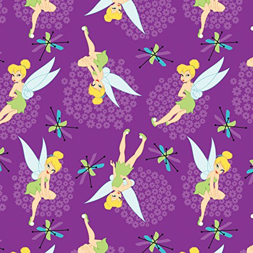 Disney Fabric Tinkerbell Toss Fabric by The Yard (Tinkerbell Fabric)