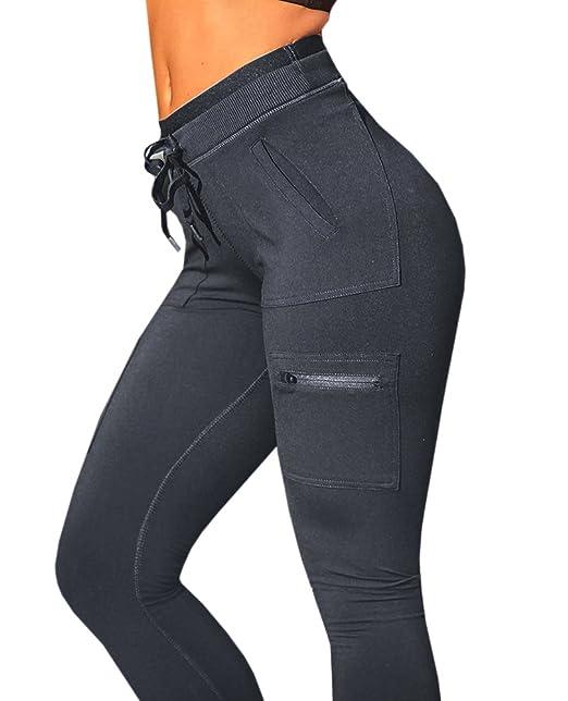 e4fe031c2c9 JOYCHEER Womens Workout Yoga Pants High Waisted Jogger Athletic Leggings  with Pockets