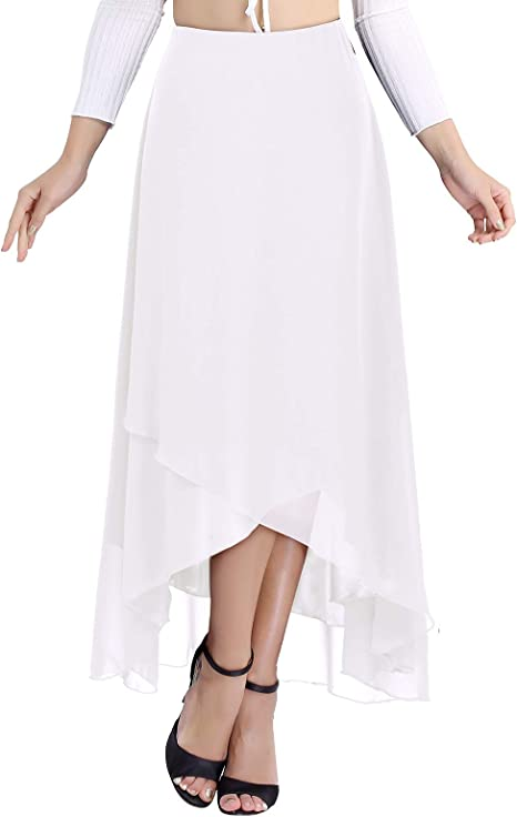 MSemis Falda de Gasa Asimétrica para Mujer Faldas de Fiesta ...