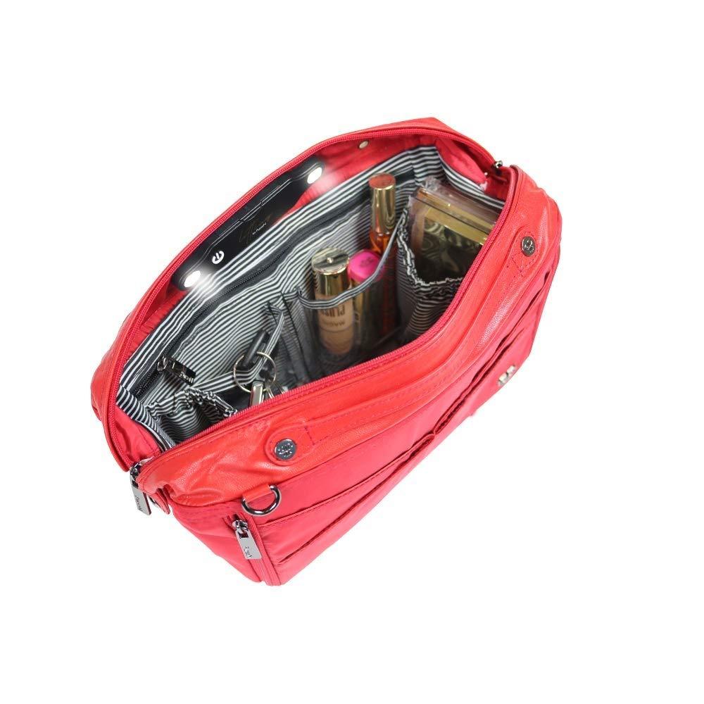 PurseN Littbag by Led Lighted Organizer Insert for Handbags Purses (Black/Black)