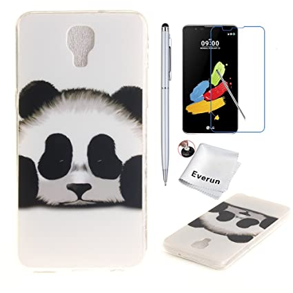 separation shoes 08d2e cb5ac Amazon.com: LG X Screen Case, Everun Cute Panda Animal Slim fit Tpu ...
