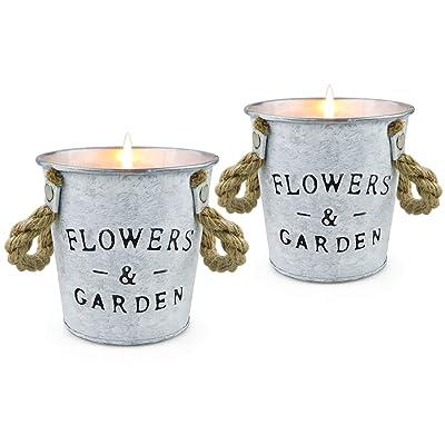 Citronella Candles Buckets Citronella Scented Aromatic Fragrance Indoor Outdoor