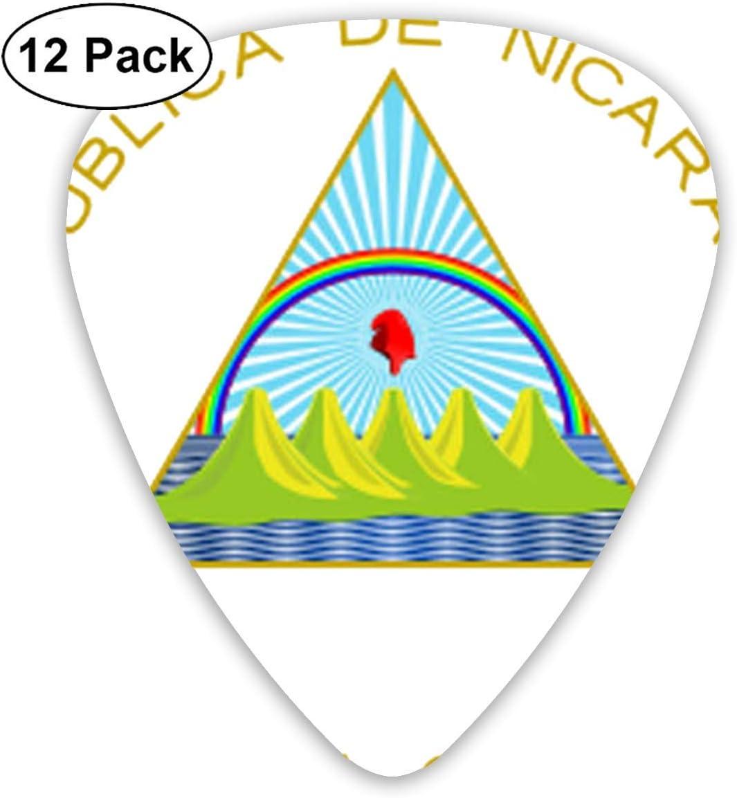 Selecciones de guitarra nacional de la bandera de Nicaragua Elecciones premium para guitarras eléctricas acústicas Bajo o ukelele Incluye medidores delgados, medianos y pesados