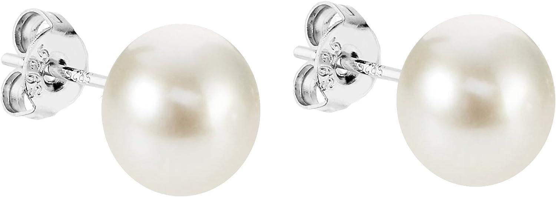 Mya tipo Pendientes Perla Pendientes 925plata de ley rodio Conector con cría de perlas perlas color blanco