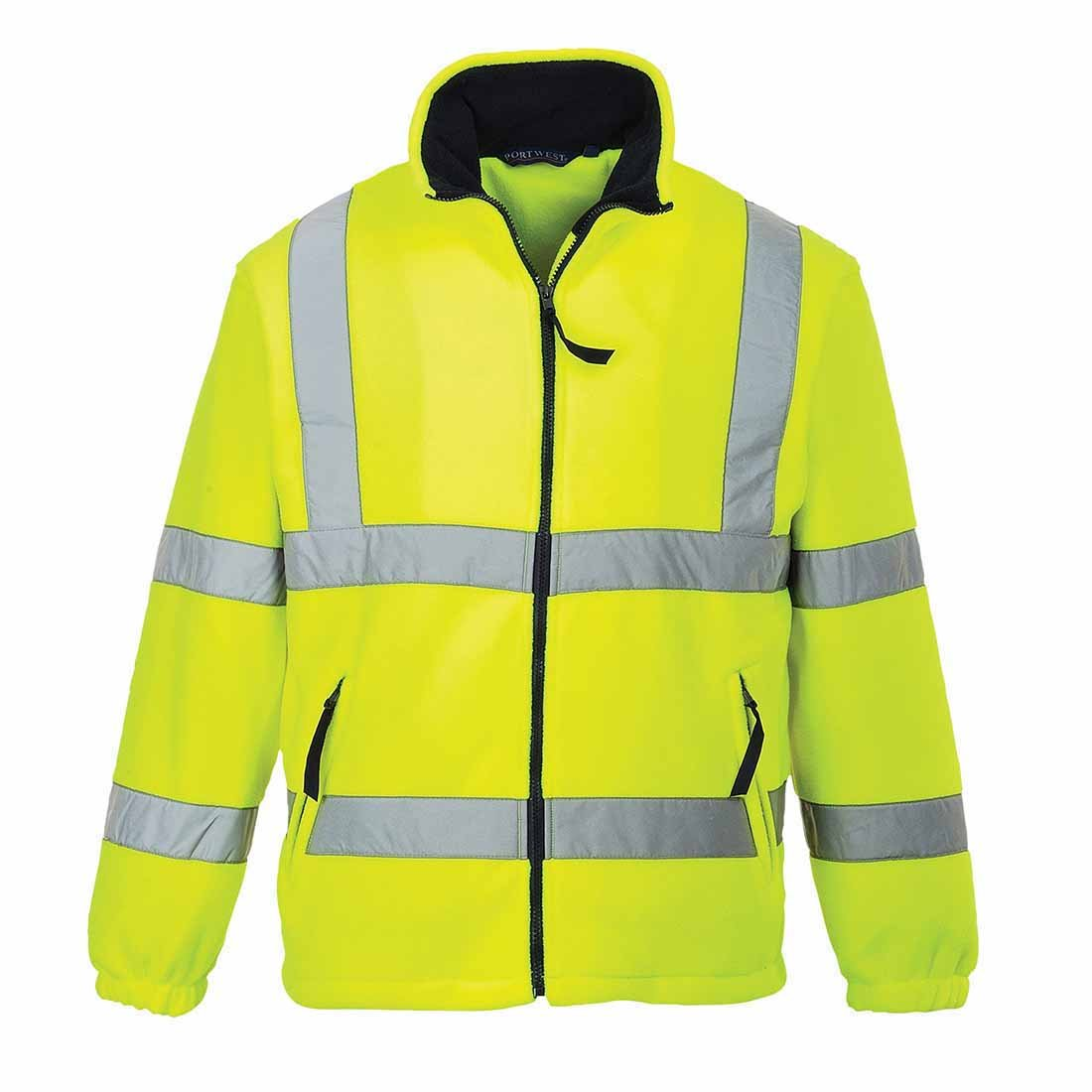 Portwest High Visibility Fleece Jacket Polyester Zip-pockets Medium Yellow Ref F300MED Portwest Clothing