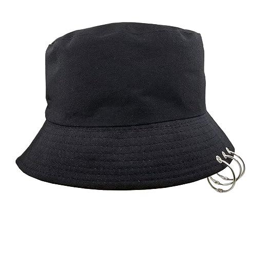 3e062d9b21d4d Kpop Bucket-Hat with Rings, Fisherman-Cap - Men Women Unisex Caps ...