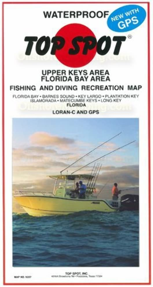 Map Of Upper Florida.Amazon Com Top Spot Map N207 Upper Keys Area Outdoor