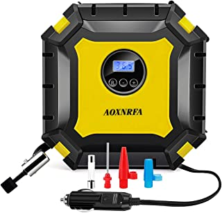 AOXNRFA Portable Air Compressor Pump, Auto Digital Tire Inflator, 100PSI 12V Tire Pump with Emergency Led Lighting and Long Cable for Car, Truck, Motorcycle and Other Inflatable