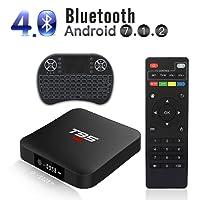 T95 S1 Androide 7.1 TV Box con In Controluce Wireless Mini Tastiera Amlogic S905W 2GB RAM 16GB ROM H.265 WiFi 4K HDMI Media Player