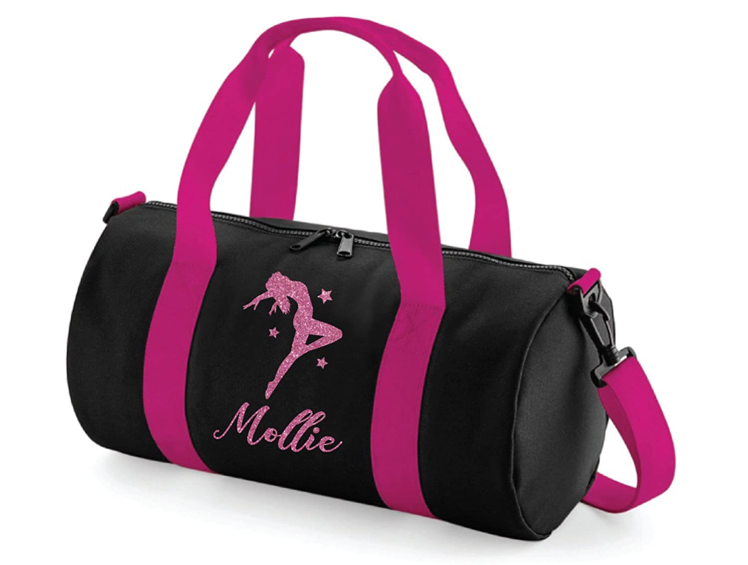 Absolutely Top Girls Personalised Dance Glitter Barrel Bag