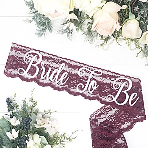 Lace Bachelorette Sash - Wine Lace by Lauren Lash Designs