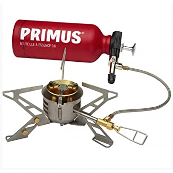 Primus OmniFuel II - Hornillos de Camping - with Fuel Bottle and Pouch Gris/Rojo