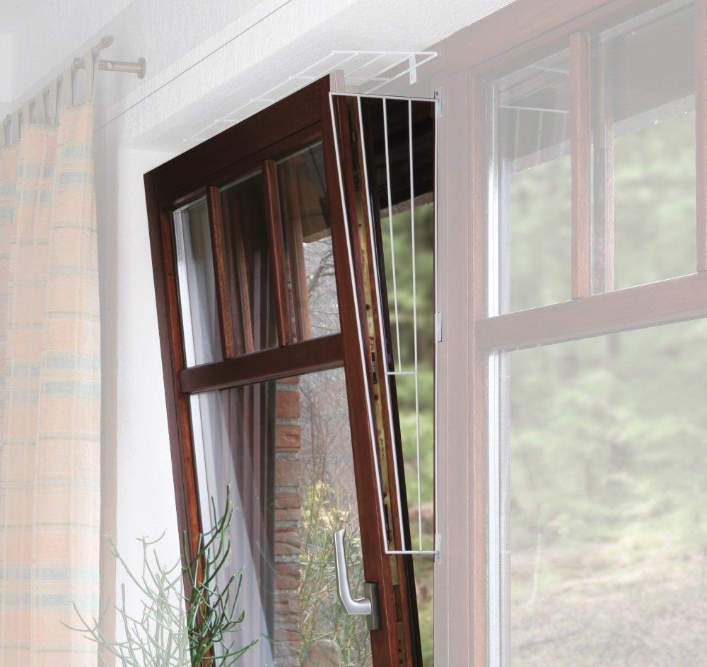 2x Trixie Kippfenster-Schutzgitter, Seitenelement, weiß - 62x16/8cm, inkl. Schrauben weiß - 62x16/8cm