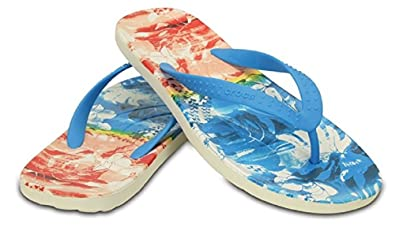 40e77de55 Crocs Chawaii Tropical II Flip Unisex Ocean 9 UK  42-43 EUR  Amazon ...
