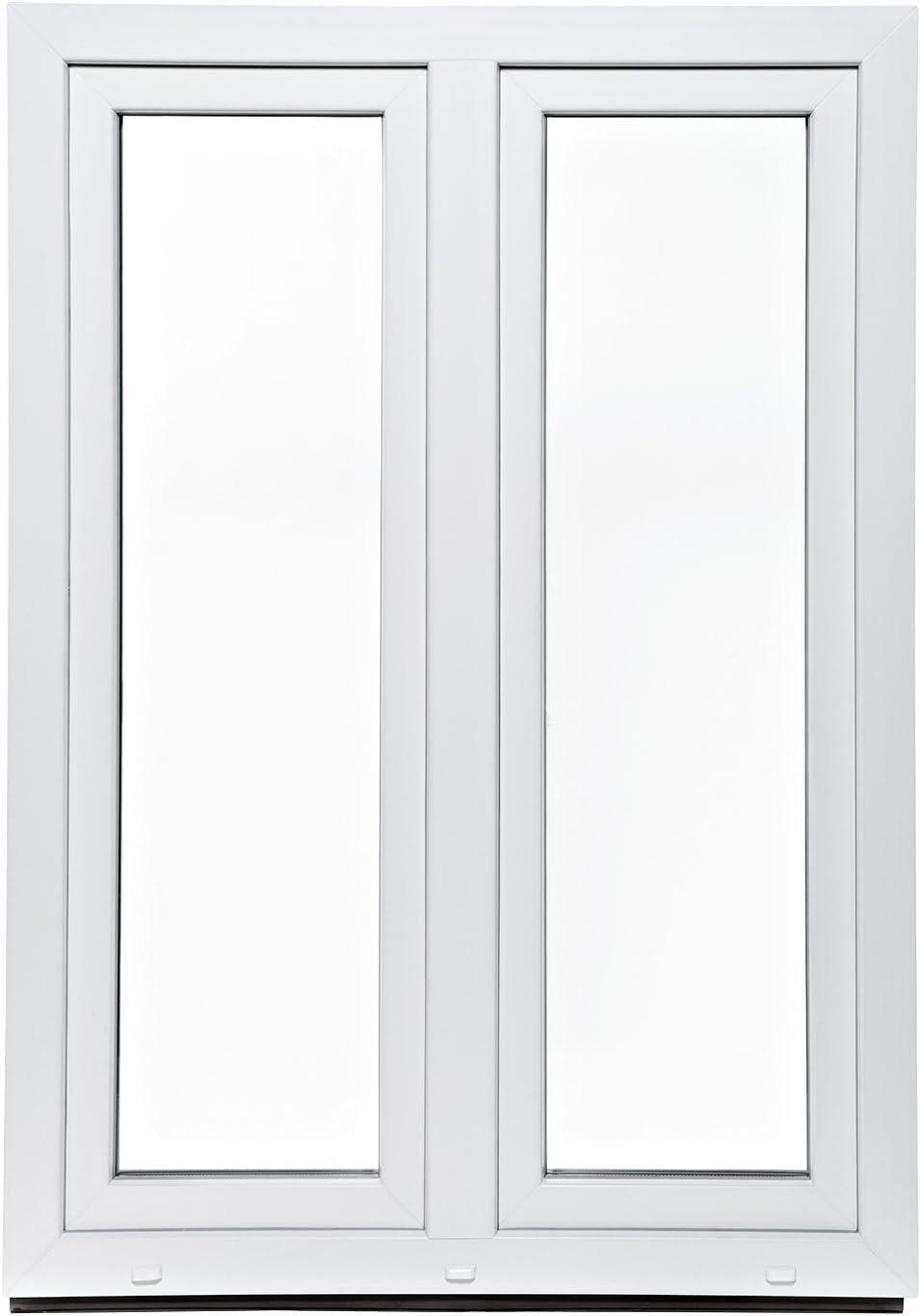 70mm Profil Kunststoff Wohnraumfenster 2 fl/üglig verschiedene Ma/ße BxH: 140 x 130 2-fach-Verglasung Fenster wei/ß