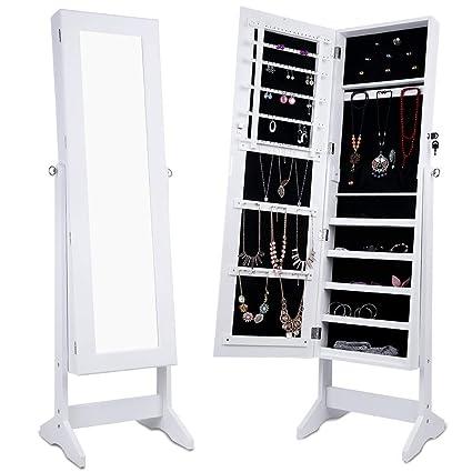 Amazon Com Finley Jewelry Armoire Cheval Mirror Full Length Floor