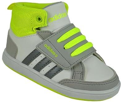 205df18545366 adidas Hoops CMF Mid INF Bébé Sneaker Enfants Chaussures Blanc ...