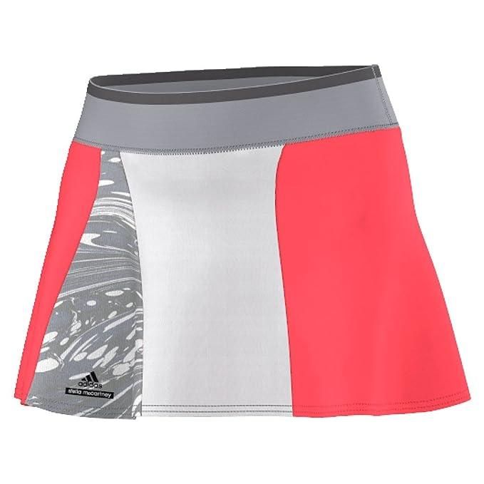low priced 48589 2819e adidas Stella McCartney Womens Barricade Tennis Skort ML Flash Red-Oyster  Grey-