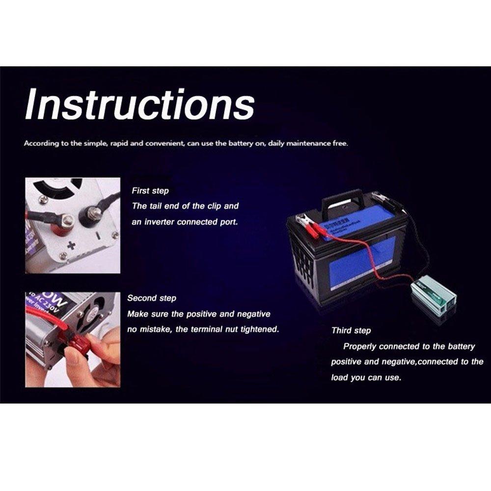 BoomBoost Onduleur de Voiture Universal Car Power Inverter Portable 1500W DC 24V AC 220V Chargeur USB Convertisseur