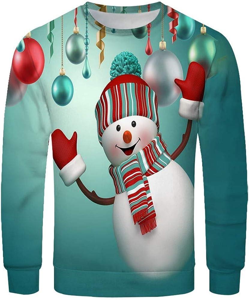 Camiseta Blusa NavideñA para Hombre MuñEco De Nieve Estampado Camisa De Navidad De Manga Larga Blusa Superior Delgada Moda Mangas Largas Casual Santa Y Nieve Alces Tops: Amazon.es: Ropa y accesorios