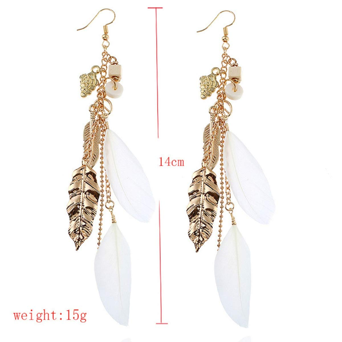 Feather Tassel Great Gifts for Women Girls JXVLUYE Colors Earring for Women Girls Fashion Simple Style Earring