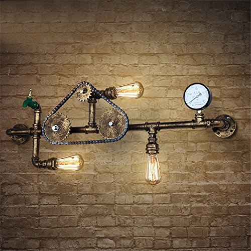 JINGUO Lighting 4 Lights Industrial Cross Plumbing Semi Flush Mount ...