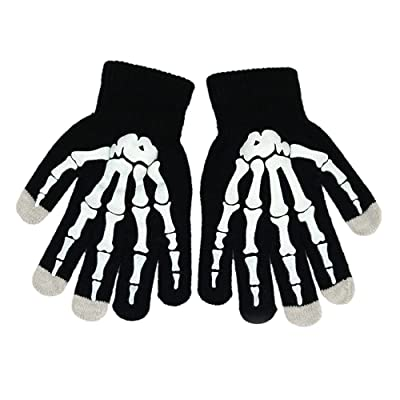 54f603cd4ad8e (Price Pair)Opromo Boys Stylish Stretch Touch Screen Gloves Skeleton Winter  Texting Gloves