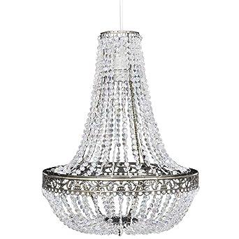 xinglieu lámpara de techo con tulipa cristal 36,5 x 46 cm ...