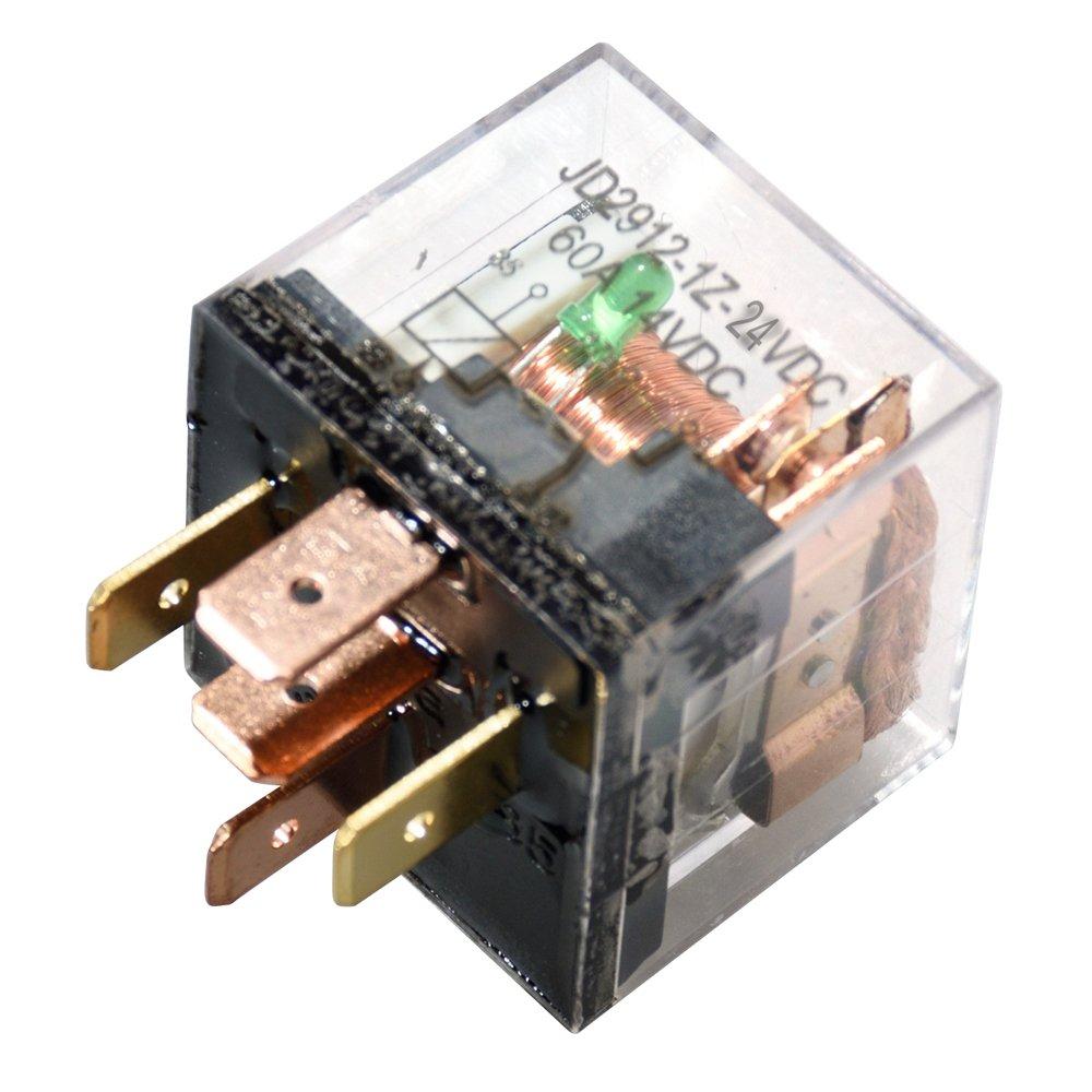 Paquete de 10 Ehdis DC 12V 60A 1NO SPDT Cargador de 5 Pines para Cargador de Carga Pesada Cargador Transparente Estuche Transparente