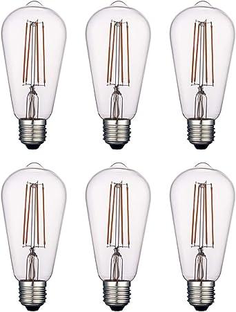 Amber Glass Vintage LED Edison Bulbs Dimmable 4W Globe G125//G40 2200K Warm White Lighting for Decoration Squirrel Cage Filament LED Light Bulbs E26 Medium Base Harwez 4 Pack