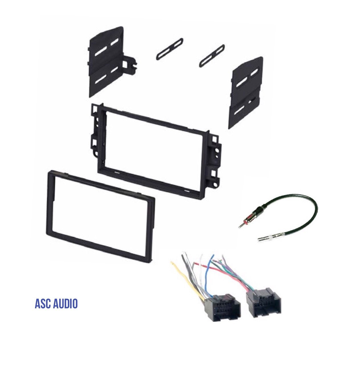 Wire Harness Antenna Adapter to Install Radio for some Pontiac Chevrolet Vehicles Compatible Vehicles Listed Below Other ASC Double Din Car Stereo Dash Kit