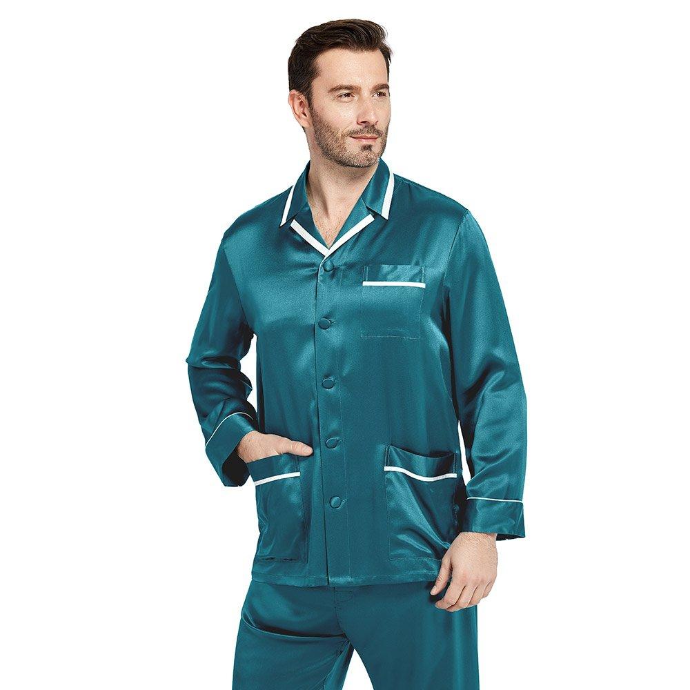 LilySilk Silk Pajamas Set for Men Summer 22 Momme Most Comfortable Sleepwear