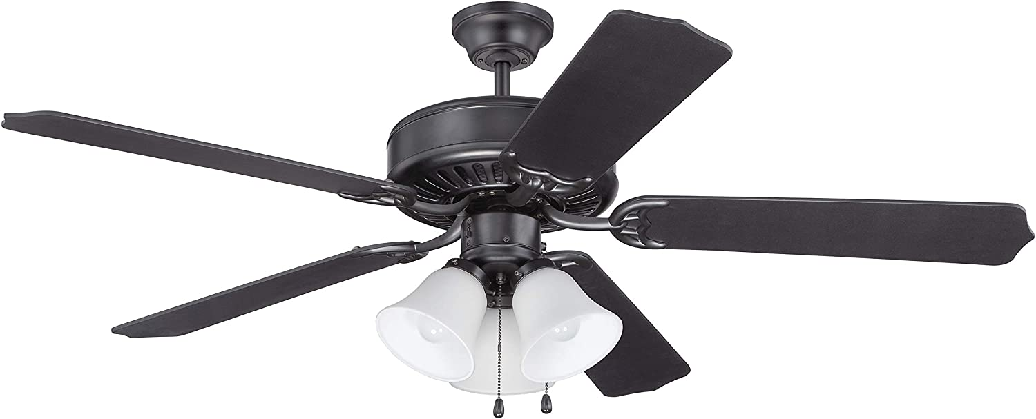 Warehouse of Tiffany CFL-8170BL Laure Crystal 6-Light 52-inch Ceiling Fan, 52 W x 52 L x 20 H, Multicolor