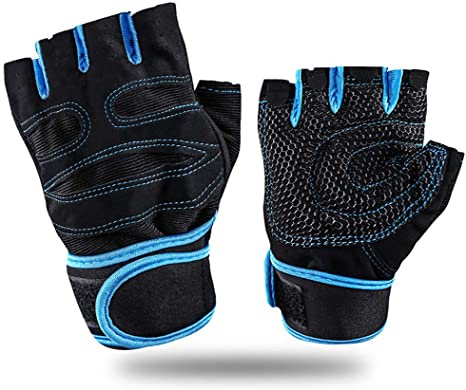 Weight Lifting Gloves with Wrist Wrap Workout Fitness Exercise and Gym Gloves