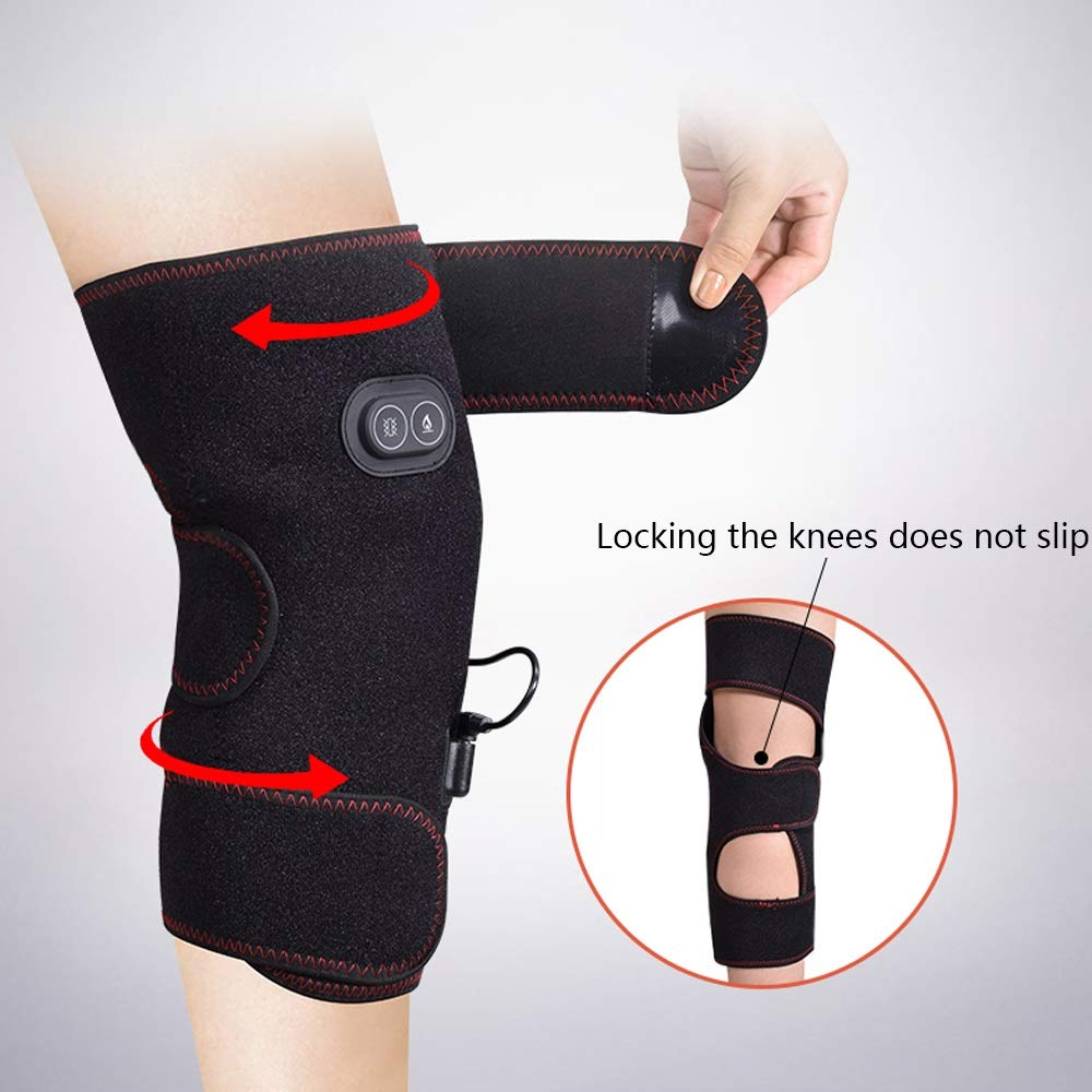 TY BEI Kneepad Electric Heating Knee Pads Men and Women Rechargeable Joints to Keep Warm Knee Physiotherapy Heat Pack Knee Pads 54X39X29 @@ (Size : No Vibration Massage) by TY BEI (Image #4)