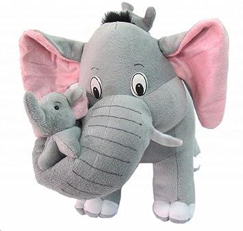 Lata Mother Elephant With 2 Babies (Stuffed) 38 Cm - Grey