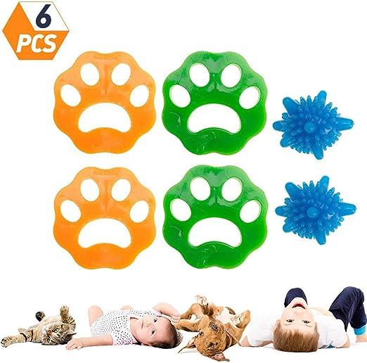 tao pipe 6 Piezas de removedor de Pelo de Mascotas para lavandería ...
