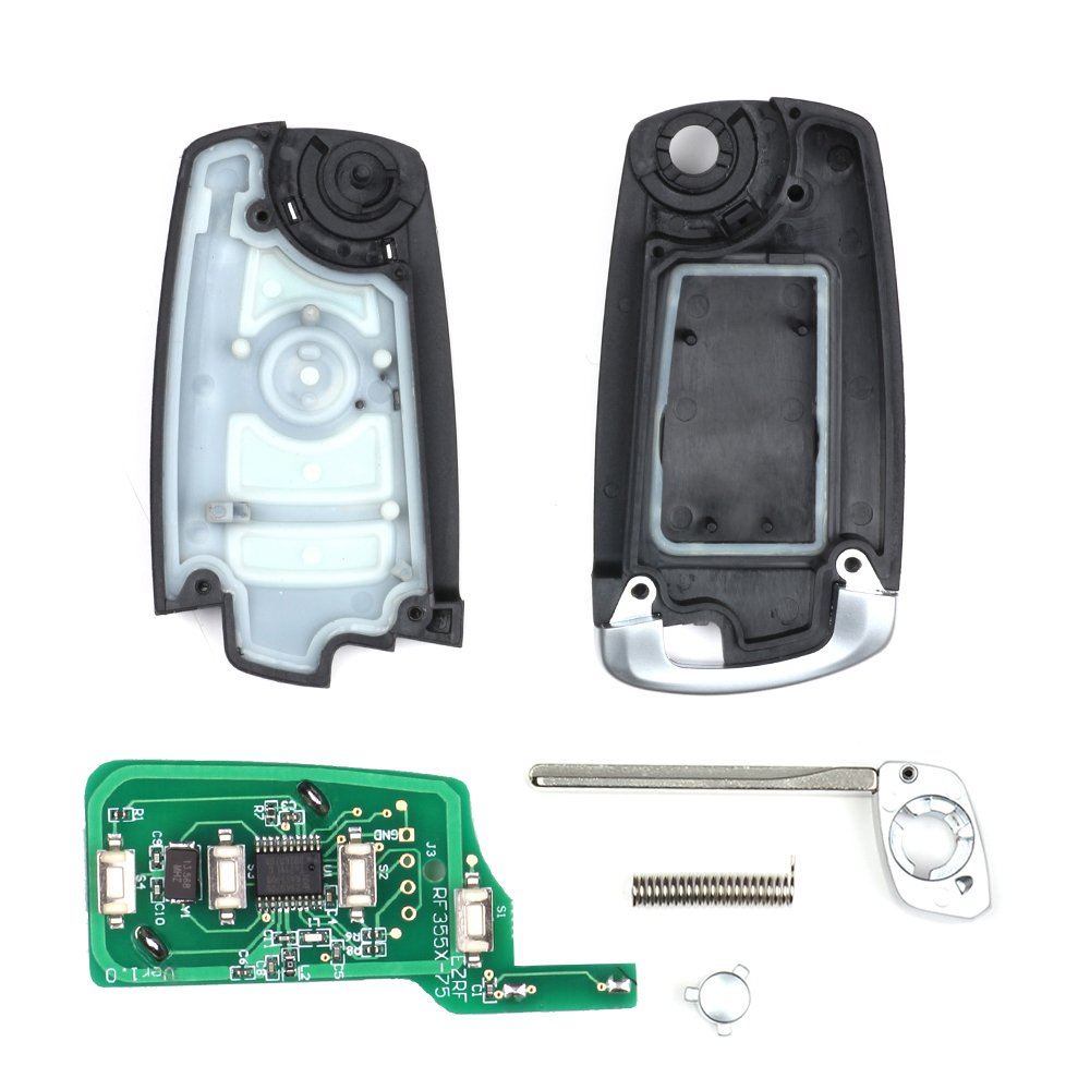 Keymall keyless entry remote car key fob CAS2 4 Button 315MHZ 315LP With PCF7942 Chip replacement for BMW E60 5 Series E63 6 Series 2004-2006 HU92 FCC KR55WK47
