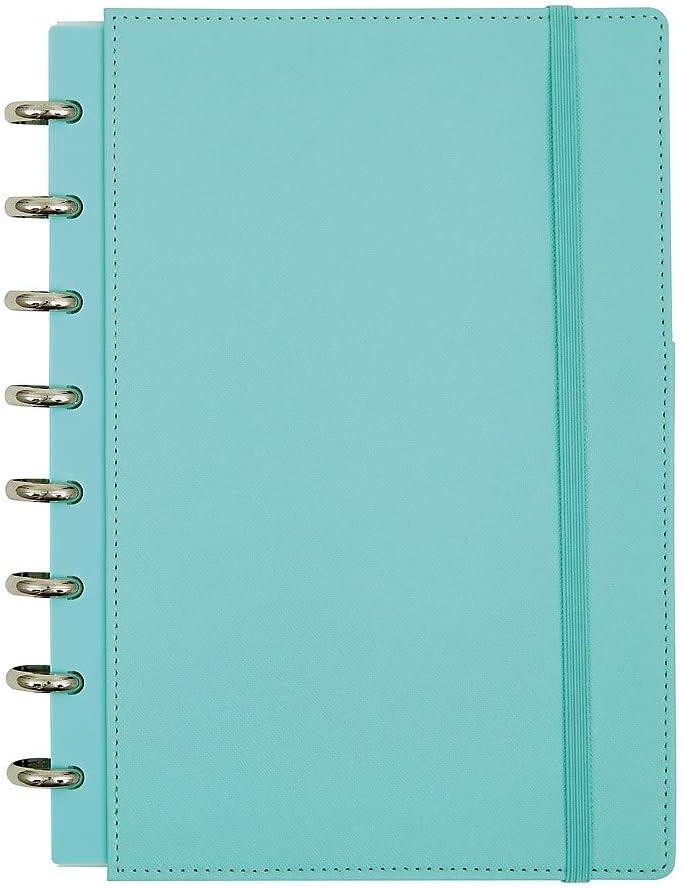 Office by Martha Stewart 1890499 Discbound Customizable Notebook Junior Size Blue (44468)
