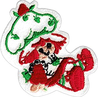 Evil Strawberry Shortcake - Embroidered Iron On or Sew On Patch