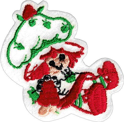 Evil Strawberry Shortcake - Embroidered Iron On or Sew On Patch (Strawberry Shortcake Applique)