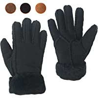 Women Sheepskin Leather Fur Lined Gloves for Winter | Work, Driving or Daily Use | Fully Shearling Inside