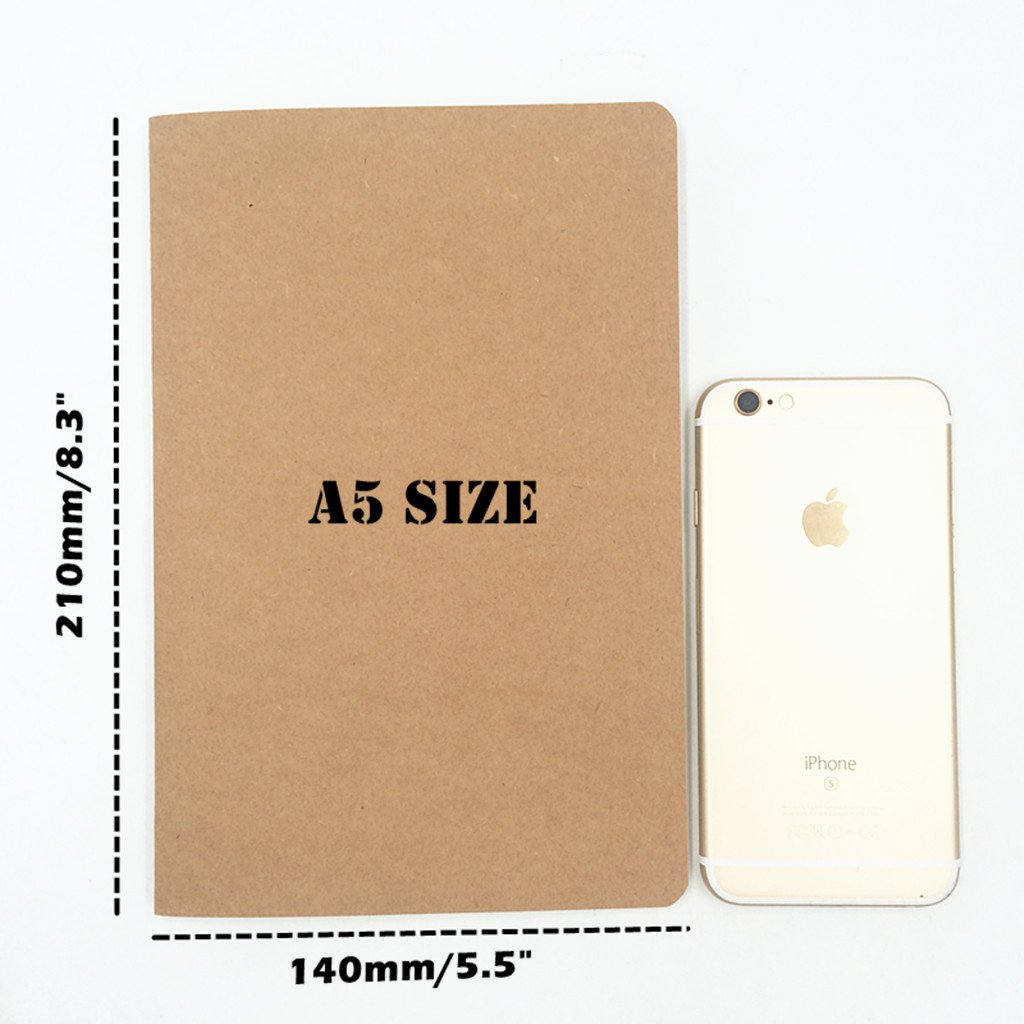 6pcs Travelers' Notebook Thread-bound Journal Diary Memo Pad,A5 Size & 30 sheets(Ruled Pages) by Alimitopia (Image #2)