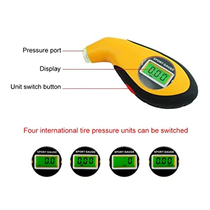 AstroAI Digital Tire Air Pressure Gauge 150 PSI 4 Settings for Car Truck Bicycle with Backlit LCD and Non-Slip Grip