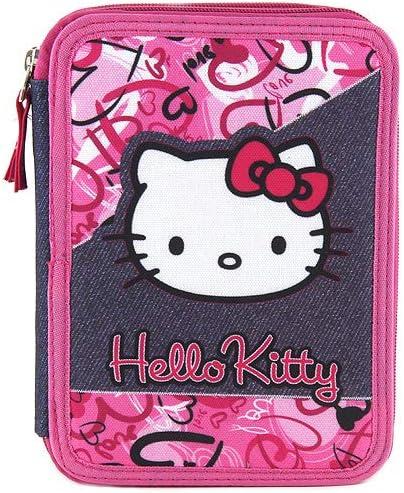 Hello Kitty Estuche Escolar Relleno: Amazon.es: Oficina y papelería